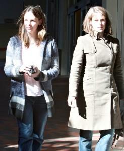 Jennifer Garner and her sister Melissa candids in Santa Monica, California
