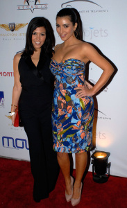 Kim Kardashian and Kourtney Kardashian at the 2009 Moves Magazine Super Bowl Party on January 28, 2009 in St. Petersburg, Florida