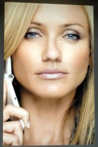 Cameron Diaz advertising for Japanese cell phone company SoftBank