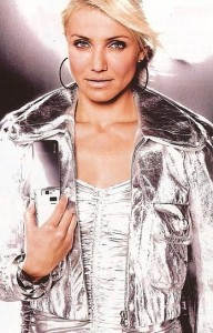 Cameron Diaz printed ad for Japanese cell phone company SoftBank