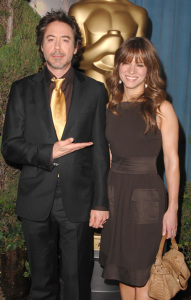 Robert Downey Jr and his wife at the 2009 Oscar Nominees Luncheon event at the Beverly Hilton Hotel on February 2nd, 2009 in Hollywood