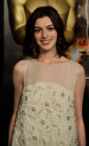 Anne Hathaway at the 2009 Oscar Nominees Luncheon event at the Beverly Hilton Hotel on February 2nd, 2009 in Hollywood