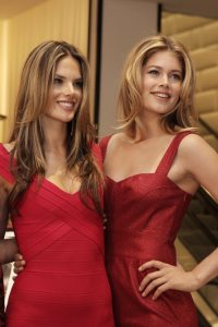 Alessandra Ambrosio and Doutzen Kroes on the 2nd of December 2008