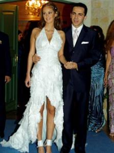 Gabriela Bo at her wedding to Cristian Castro