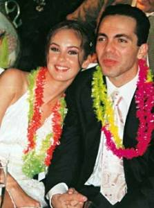 Gabriela Bo with her ex-husband Cristian Castro