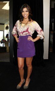 Kourtney Kardashian at Dash Boutique on February 6th, 2009 in Calabasas, California