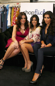 Kim Kardashian with her sisters Kourtney and Khloe Kardashian