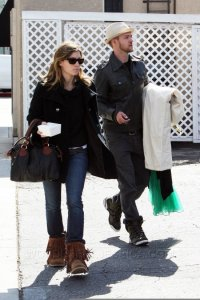 Jessica Biel and Justin Timberlake together in West Hollywood