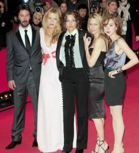 Blake Lively with Keanu Reeves, Zoe Kazan, Rebecca Miller and Robin Wright Penn.