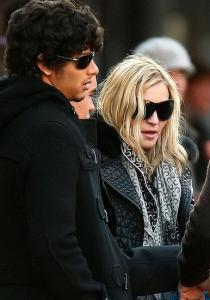 Jesus Luz and the pop singer Madonna seen leaving a restaurant after having a dinner date together
