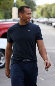 Alex Rodriguez was spotted on his way to a fitness gym in Miami Florida earlier today on February 10th 2009