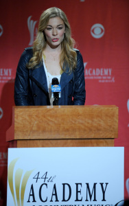 LeAnn Rimes announces the nominees live for the 44th Academy of Country Music Awards