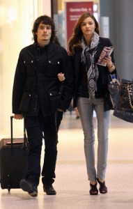 Orlando Bloom and Miranda Kerr at the Sydney Airport in Australia on February 12th 2009
