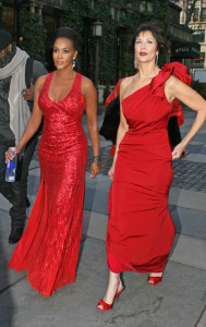 Vivica A. Fox and Linda Carter arrive at The Tents in Bryant Park, New York City