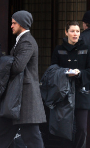 Justin Timberlake and Jessica Biel arriving with new items to Justin's recently purchased apartment in downtown New York City on February 16th 2009