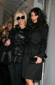 Kim Kardashian and Kelly Pickler at the Tracy Reese fashion show