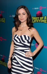 Eliza Dushku attends the Launch of the T Mobile myFaves Shot of a Lifetime Sweepstakes on February 13th 2009