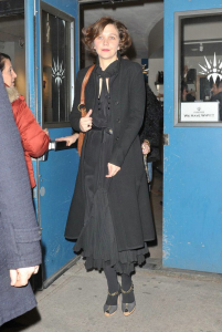Maggie Gyllenhaal at the after party for the Off Broadway play Uncle Vanya at Pangea restaurant in New York City on February 12th 2009