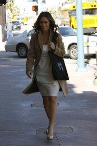Jennifer Love Hewitt on The Ghost Whisperer filming set on February 10th 2009 2