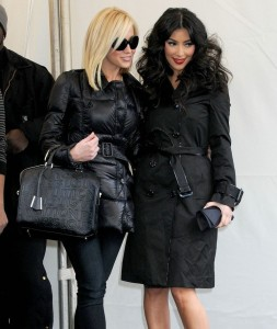 Kellie Pickler with Kim Kardashian at the Tracy Reese Fall 2009 fashion show during Mercedes Benz Fashion Week