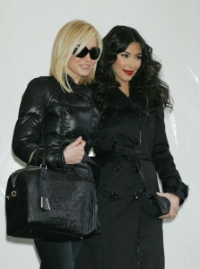 Kellie Pickler and Kim Kardashian at the Tracy Reese Fall 2009 fashion show during Mercedes Benz Fashion Week