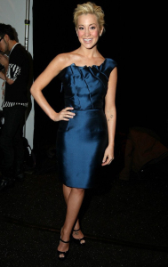 Kellie Pickler arrives at the Lela Rose Fall 2009 fashion show during Mercedes Benz Fashion Week in New York City on February 15th 2009