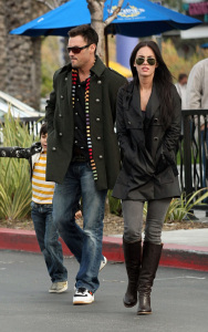Megan Fox her fiance Brian Austin Green and his son Kassius Green at Daphnes Greek Cafe at the Empire Center in Burbank California on February 15th 2009 6