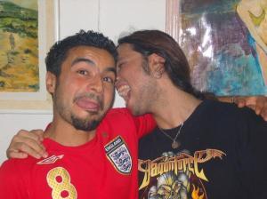 Zaher Zorgatti with his friend