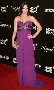 Emily Blunt at the Montblanc Signature For Good charity event in Hollywood California on February 20th 2009