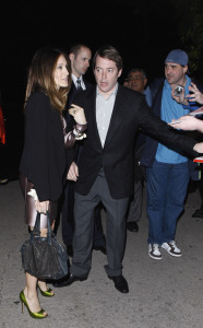 Sarah Jessica Parker with Matthew Broderick attend the Women in Film 2nd Annual pre Oscar Cocktail Party held at a private residence in Bel Air Los Angeles California
