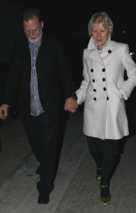 Helen Mirren and husband Taylor Hackford arrive at the pre oscar party in Bel Air on February 21st 2009 1