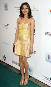 Freida Pinto arrives at the 2009 US Ireland Alliance Pre-Oscar Gala Awards Ceremony held at The Ebell Club on February 19th 2009