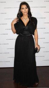 Kim Kardashian arrives to the disney and miramax oscar nominees celebration pre Oscar Diamond Party on February 21st 2009 1
