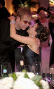 Kate Beckinsale and Elton John at the 17th Annual Elton John AIDS Foundation Oscar party held at the Pacific Design Center on February 22nd 2009 in West Hollywood California   Copy