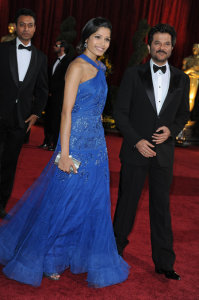 Freida Pinto arrives on the red carpet of the 81st Annual Academy Awards on February 22nd 2009 3