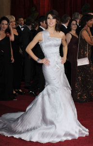 Marisa Tomei arrives on the red carpet of the 81st Annual Academy Awards on February 22nd 2009 1