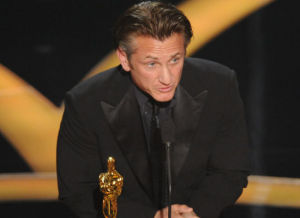 sean penn on stage of the 81st Annual Academy Awards held at The Kodak Theatre on February 22nd 2009 in Hollywood California