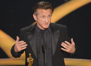 sean penn and his award at the 81st Annual Academy Awards held at The Kodak Theatre on February 22nd 2009 in Hollywood California