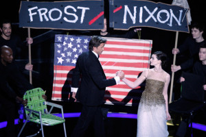 Hugh Jackman and actress Anne Hathaway perform during the 81st Annual Academy Awards held at Kodak Theatre on February 22nd 2009 in Los Angeles California