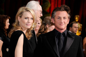 Robin Wright Penn and Sean Penn arrive at the 81st Annual Academy Awards held at Kodak Theatre on February 22nd 2009 in Los Angeles California