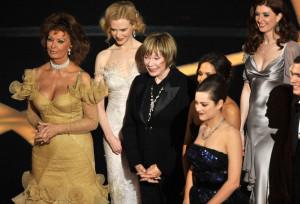 Sophia Loren with Nicole Kidman, Shirley MacLaine, and Marion Cotillard