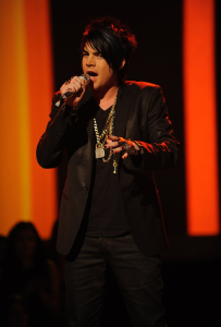 Adam Lambert sings satisfaction by the rolling stones in front of the American Idol Judges on February 25th 2009