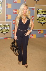Nicole Austin various pictures in black pants