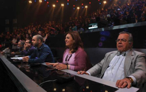 the teachers of star academy at the second prime Madam Mary with michel fadel and wadi abi raed and mr fouad fadel