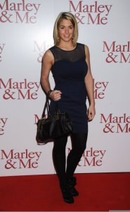 Gemma Atkinson arrives at Marley and Me UK movie premiere in London on March 2nd 2009 3
