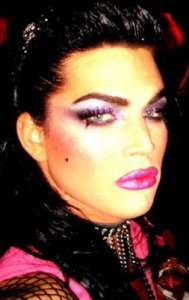 Adam Lambert full makeup photo