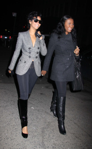 Rihanna and Brandi at The Spotted Pig restaurant in the west village manhattan on March 13th 2009