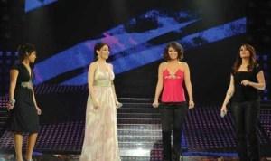 Noura and Inass and Aya with Yara at Star Academy Third Prime