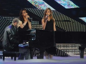 Aya and Basma with teacher Michel Fadel at Star Academy Third Prime