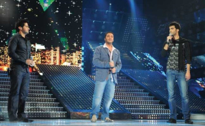 Mohamed Serag with Meteb Fahed and Michel Rmeih at Star Academy Third Prime